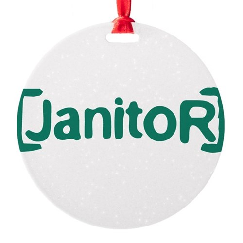 Scrubs Janitor Round Ornament