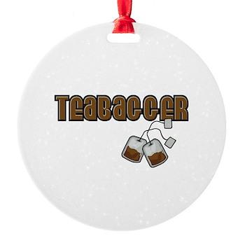 Teabagger Round Ornament