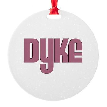 Pink Dyke Round Ornament