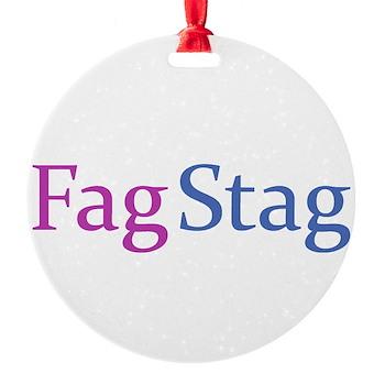 Fag Stag Round Ornament