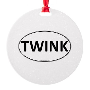TWINK Euro Oval Round Ornament