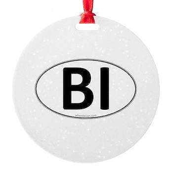 BI Euro Oval Round Ornament