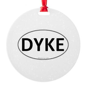 DYKE Euro Oval Round Ornament