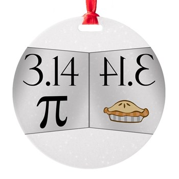 PI 3.14 Reflected as PIE Round Ornament
