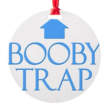 Booby Trap Round Ornament