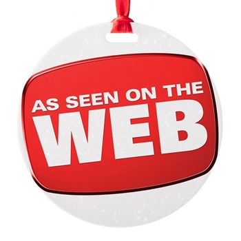 As Seen on the Web Round Ornament