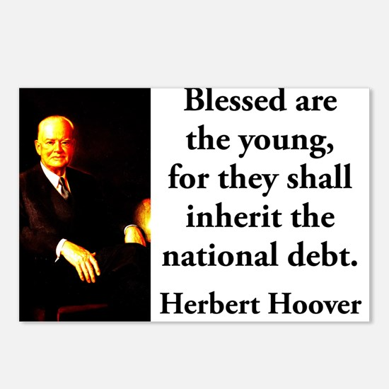 Blessed Are The Young - Herbert Hoover Postcards (