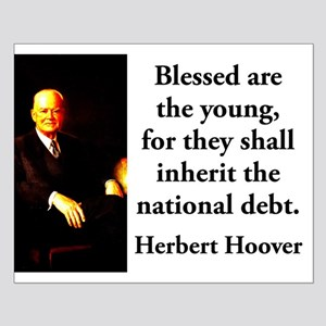 Blessed Are The Young - Herbert Hoover Small Poste
