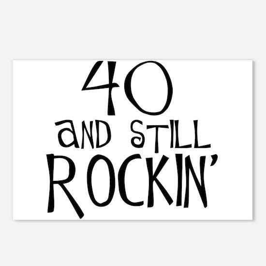 40th birthday, still rockin' Postcards (Package of