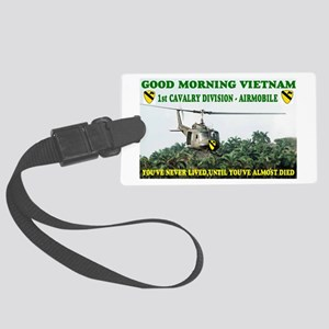 1st CAVALRY DIVISION AIRMOBILE Large Luggage Tag