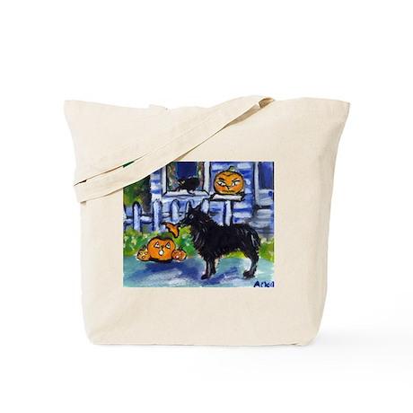 Schipperke Pumpkin top mischi Tote Bag