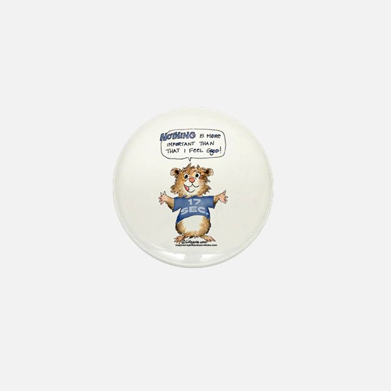 Cartoon Hamster Mini Button