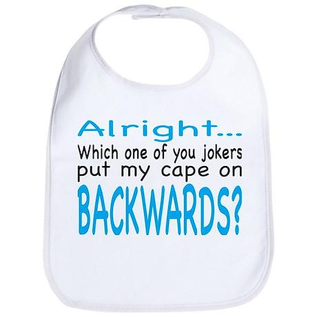 Backwards Cape Blue Bib
