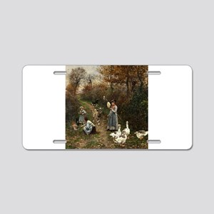 Vintage Painting of Ladies and Geese Aluminum Lice
