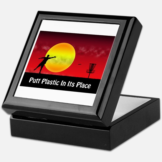 Putt Plastic In Its Place Keepsake Box