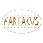 Fartacus Sticker (Oval 10 pk)