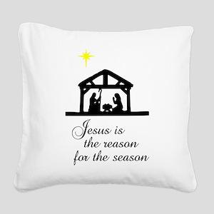 Jesus Is The Reason Nativity Scene Square Canvas P