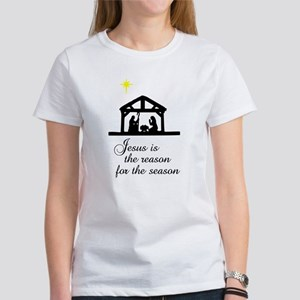 Jesus Is The Reason Nativity Scene Women's T-Shirt