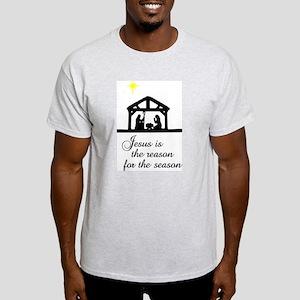 Jesus Is The Reason Nativity Scene Light T-Shirt