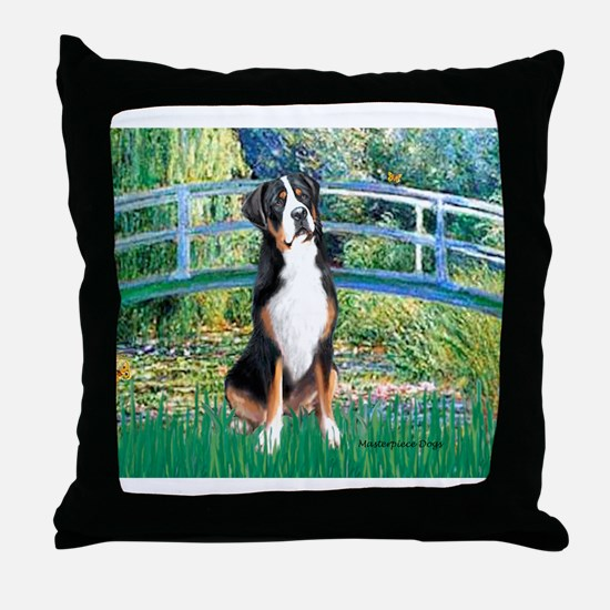 Unique Swiss mountain dog Throw Pillow