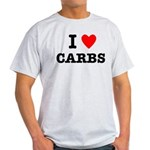 I Love Carbs Funny Diet Light T-Shirt