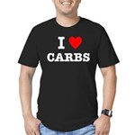 I Love Carbs Funny Diet Men's Fitted T-Shirt (dark