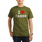 I Love Carbs Funny Diet Organic Men's T-Shirt (dar
