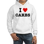 I Love Carbs Funny Diet Hooded Sweatshirt
