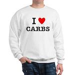 I Love Carbs Funny Diet Sweatshirt