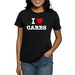 I Love Carbs Funny Diet Women's Dark T-Shirt