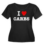 I Love Carbs Funny Diet Women's Plus Size Scoop Ne