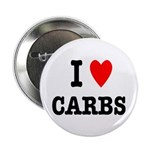 """I Love Carbs Funny Diet 2.25"""" Button (10 pack"""