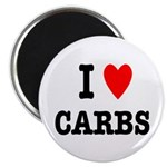 """I Love Carbs Funny Diet 2.25"""" Magnet (10 pack"""