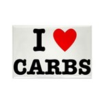 I Love Carbs Funny Diet Rectangle Magnet