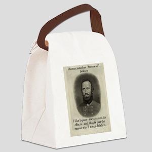 I Like Liquor - Stonewall Jackson Canvas Lunch Bag