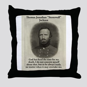 God Has Fixed The Time - Stonewall Jackson Throw P