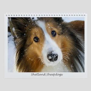 Shetland Sheepdogs Wall Calendar