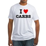 I Love Carbs Funny Diet Fitted T-Shirt