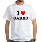 I heart carbs Mens Classic White T-Shirts