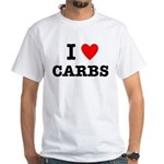 I Love Carbs Funny Diet White T-Shirt