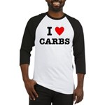 I Love Carbs Funny Diet Baseball Jersey