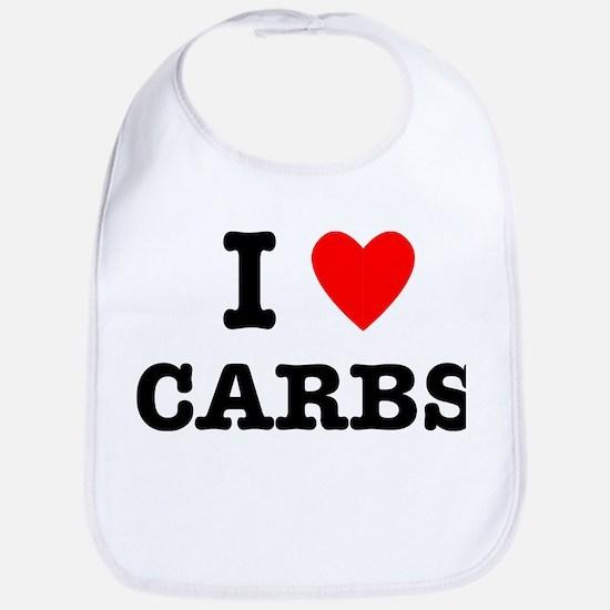 I Love Carbs Funny Diet Bib