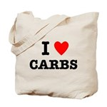 I Love Carbs Funny Diet Tote Bag