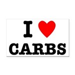 I Love Carbs Funny Diet Rectangle Car Magnet