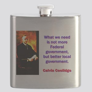 What We Need - Calvin Coolidge Flask