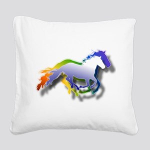Running Square Canvas Pillow