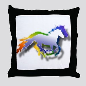 Running Throw Pillow