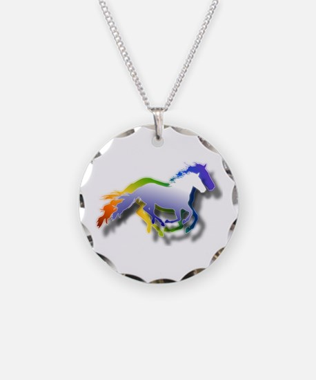 Running Necklace Circle Charm