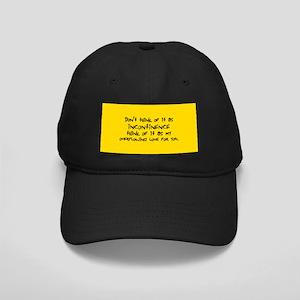 Incontinence Black Cap