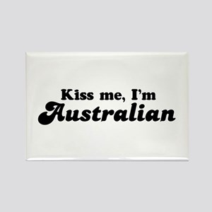 Kiss Me I'm Australian Rectangle Magnet